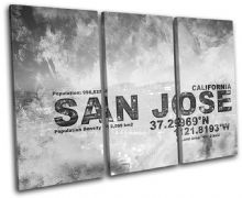 San Jose CA USA City Typography - 13-2127(00B)-TR32-LO